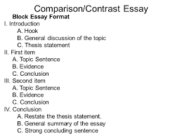 compare and contrast point by point essay example