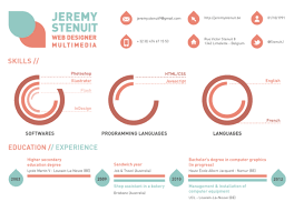 examples of creative graphic design resumes   inspirationfeed    personal resume by jérémy stenuit