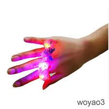 <b>10pcs</b>/<b>lot</b> Kids Child <b>LED</b> Light Up Flashing Finger Rings   | Shopee ...