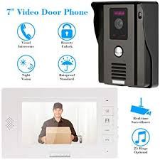 Intercom Video,KKmoon <b>7 Inch Video Door</b> Phone Doorbell Video ...