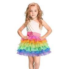 Girls Rainbow Tulle Skirts Tutus Unicorn Skirt for ... - Amazon.com
