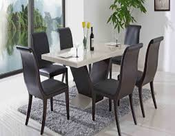 modern dining set captivating  seater dining room table and