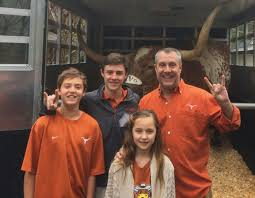 texas royalty in houston the buzz magazines the university of texas mascot a longhorn d bevo xiv recently ed the tanglewood home of mike blalock before the advocare v100 texas bowl game in