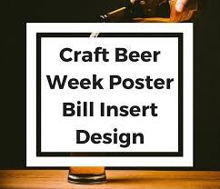 <b>Craft Beer Week</b> Poster & Bill Insert <b>Design</b> | Web Strategies
