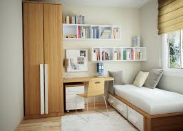 interior small white apartment with modern bedroom design using trundle bed plus minimalist study desk bedroom desk unit home