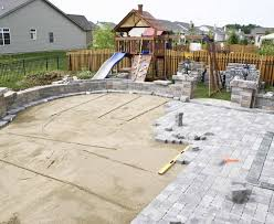 stone patio installation: paver patio and stone patio design and installation for st charles geneva naperville