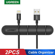 Ugreen <b>Cable Organizer Silicone USB</b> Cable Winder Flexible Cable ...