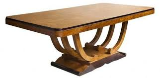 oval dining table art deco: french art deco burlwood u base dining table for ten