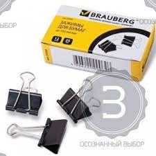 Купить <b>зажимы</b> для бумаг <b>BRAUBERG</b>, комплект <b>12 шт</b>., 25 мм на ...