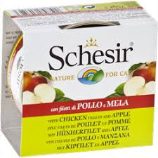 <b>Консервы</b> для кошек <b>Schesir Nature for</b> Cat Chicken Fillets & Apple