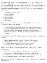 professional auto insuruance claims adjuster templates to showcase    resume templates  auto insuruance claims adjuster