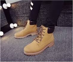 <b>Winter Men Boots PU</b> Outdoor Snow Ankle Boots Male Lace Up Anti ...