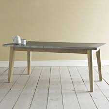 images zinc table top: zinc top dining table loafcom  zinc top dining table loafcom