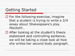 parts of a solid body paragraph adapted from the apec formula for  getting started  for the following exercise imagine that a student is trying to write