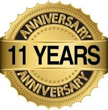 Image result for 11th year anniversary