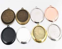 <b>2pcs</b> 18x25mm Inner Size Black and Antique Silver Plated <b>Fashion</b> ...