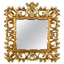 Italian Giltwood <b>Baroque Style Wall Mirror</b>   Mirror wall, Ornate mirror ...