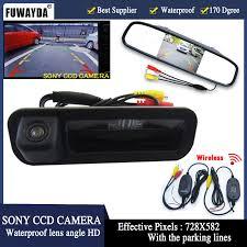 FUWAYDA <b>handle</b> Trunk 4.3 Inch Car Rear View Mirror Parking ...