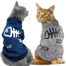 Cute Cat Clothing Winter <b>Pet</b> Puppy <b>Dog Clothes</b> Hoodies For Small ...