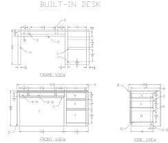 office desk plans built in office desk plans