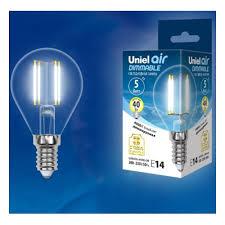 Светодиодная <b>лампа Uniel LED</b>-<b>G45</b>-5W/NW/E14/CL/DIM ...