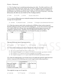 multiple choice questions finance homework week 5 doc