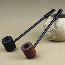 Ebony Wood Pipe <b>Smoking Pipes Portable Smoking Pipe</b> Herb ...