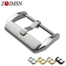 <b>ZLIMSN</b> Metal <b>Buckle</b> Stainless Steel Pin Clasp HQ <b>Watch Bands</b> ...
