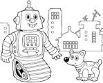 Раскраска для мальчиков робот