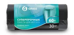 PP-0021-<b>GRASS</b>: <b>Мешок для мусора</b> ПНД в рулоне 60л. 65*55 8 ...