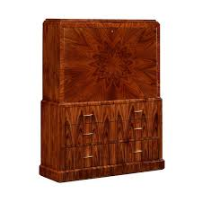 art deco style secretaire with brass satin santos 494335 sas brs jonathan charles art deco style rosewood secretaire 494335