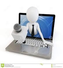 d man online interview concept stock image image  3d man online interview concept