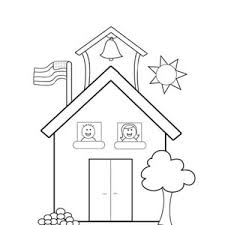 Small Picture Welcome to School House Coloring Page Coloring Sky