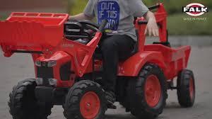 <b>Трактор</b>-<b>экскаватор педальный</b> с прицепом Kubota M135GX <b>FALK</b> ...