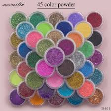 Meicailin <b>45 pcs</b>/<b>Set</b> Sugar Acrylic Nail Glitter Powder Pigment ...