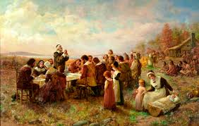 the pilgrims and the first thanksgiving faith and history first thanksgiving at plymouth jeannie brownscombe 1914 on the eve of