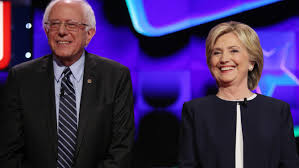 Image result for public images of Hillary Clinton and Bernie Sanders