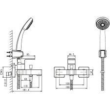 <b>Смеситель для ванны Bravat</b> Riffle F672106C-B в Санкт ...