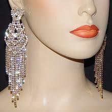 Buy wedding <b>crystal rhinestone tassel earrings</b> and get free shipping ...