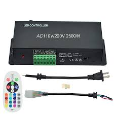 AC110V/220V 2500W 24Keys RF RGB Controller, Suitable For ...