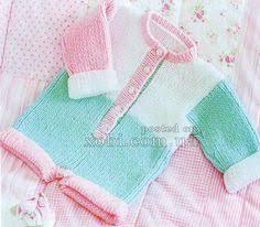 вязаный песочник с воротничком | knitting & crochet | Детские ...