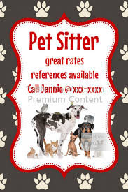Pets Flyer Templates | PosterMyWall Lost Pet Flyer Template; Pet Sitter Animal Cat Dog Bird flyer poster announcement ...