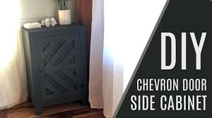 DIY: $50 <b>Side Cabinet with</b> Door - YouTube