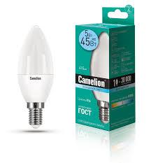 <b>Camelion LED5</b>-<b>C35</b>/<b>845</b>/<b>E14</b> (Эл.<b>лампа светодиодная</b> 5Вт 220В)