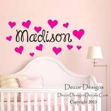 Hearts Custom Name <b>Vinyl Wall Decal</b> Sticker Custom <b>Vinyl</b> Wall ...