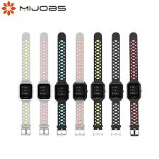 Mijobs <b>20mm Sport</b> Amazfit Strap <b>Silicone Wrist</b> Strap for Xiaomi ...
