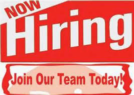 Image result for now hiring sign