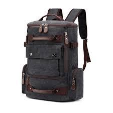 Vintage <b>17 Inch</b> Laptop Backpack <b>Men</b> Canvas <b>Women</b> Backpacks ...