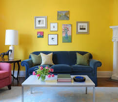 sleek blue and yellow living room blue yellow living room