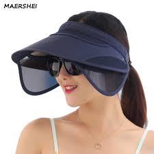 <b>MAERSHEI</b> female <b>summer</b> empty top hat retractable sun visor ...